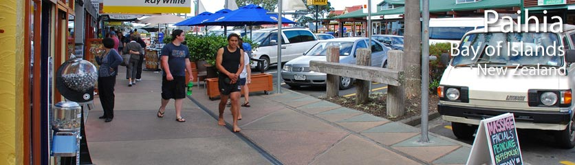 There is great shopping in Paihia